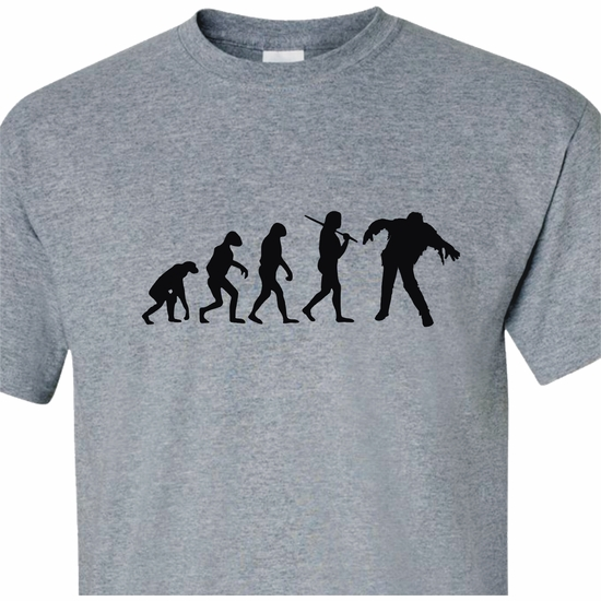 Evolution Of The Zombie Adult T-Shirt