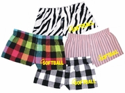 Fastpitch Softball Flannel Bitty Boxer