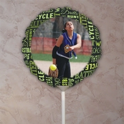 Fastpitch Softball Game Chalkboard Words Photo Balloon
