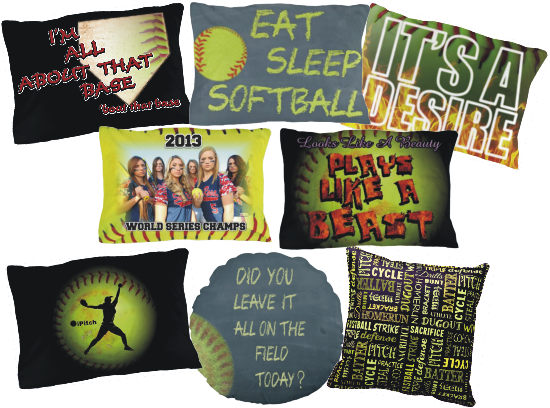 Fastpitch Softball Pillows And Pillowcases