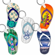 Flip Flop Keychains/Key Charms/Flip Flop Shaped Aluminum Keychains