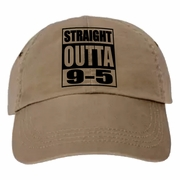 Funny Retired Baseball Cap, Straight Outta 9-5, Retirement Party Gift, Straight Outta The Office/Work Hours