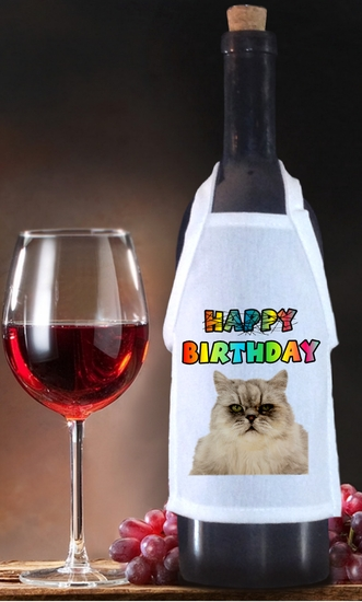 Grumpy Cat  Birthday Bottle Apron For Wine, Spirits, Craft Beer, Coffee Syrups and Cooking Oils