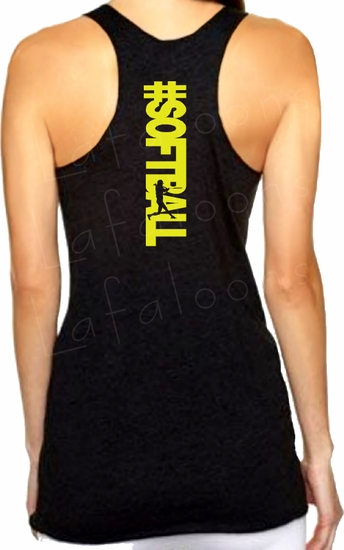 Hashtag SOFTBALL/Fastpitch Softball Racerback Premium Triblend Women's Tank Top