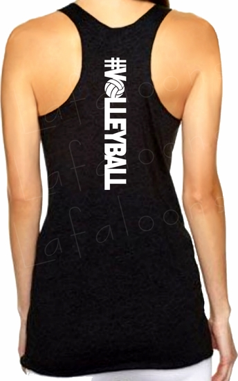 Hashtag VOLLEYBALL Racerback Premium Triblend Women's Tank Top