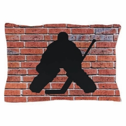 Hockey Goalie Brick Wall Pillowcase