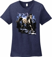 Horse Shirt/Running Horse Lightning Storm, Equestrian T-Shirt/Horse Lovers T-Shirt/Horse Lovers Gift/Horse Themed Gift/Women�s Horse Shirt