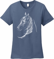 Horse Shirt/White Horse Head/Horse Art, Equestrian T-Shirt/Horse Lovers T-Shirt/Horse Lovers Gift/Horse Themed Gift/Women�s Horse Shirt