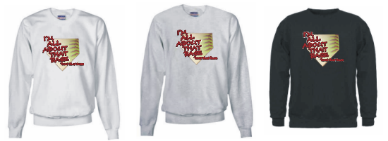 I'm All About That Base Fastpitch Softball Adult Sweatshirt