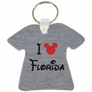 I Mickey Florida T-Shirt Shaped Aluminum Key Tag/Keychain/Key Charm