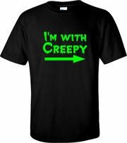 Im With Creepy Halloween Adult T-Shirt