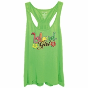 Island Girl Tropical Women�s Racer Back Flare Tank