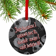 Jack Skellington Believe Christmas Ornament/Gift Tag/Personalized Nightmare Before Christmas Quote Ceramic Ornament/Tag/Christmas Gift