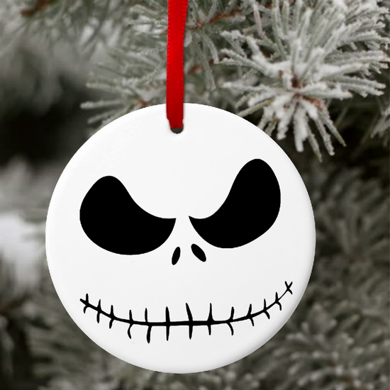 Jack Skellington Christmas Ornament/Gift Tag/Personalized Nightmare Before Christmas Ceramic Ornament/Tag