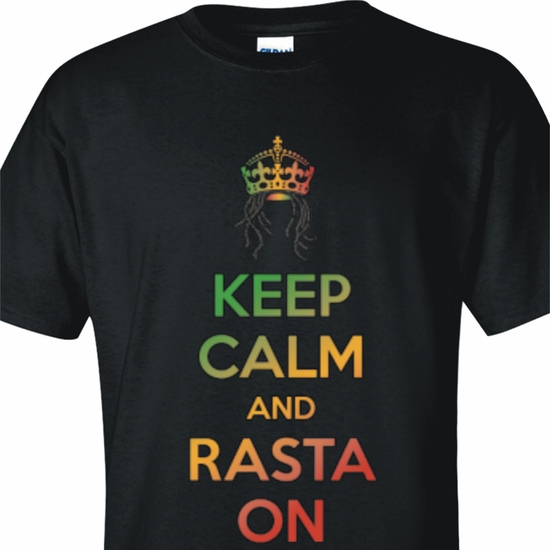 Keep Calm And Rasta On Adult T-Shirt
