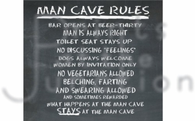 Man Cave Rules Chalkboard Frosted Glass Beer Stein