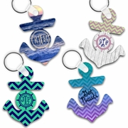 Nautical Anchor Keychains/Key Charms/Anchor Shaped Aluminum Keychains