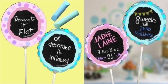 New Baby Chalkboard Balloon/Chalkboard Baby Announcement Sign/Chalkboard Baby Balloon Sign/Gender Reveal/Baby Shower Balloon/New Baby Balloon