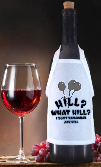 Over The Hill Birthday Bottle Apron For Wine, Spirits, Craft Beer, Coffee Syrups and Cooking Oils