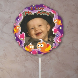 Personalized A Little Birdie Told Me Photo Balloon