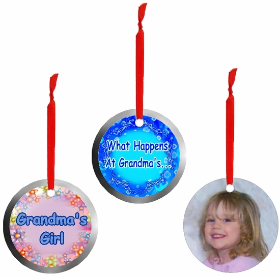 PERSONALIZED ALUMINUM ROUND MOTHER'S DAY ORNAMENTS AND GIFT TAGS