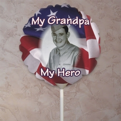 Personalized American Flag Round Photo Balloon