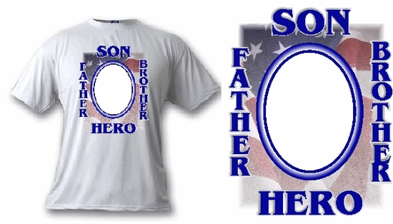 Personalized American Hero Photo T-Shirt