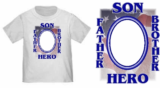 Personalized American Hero Youth Photo T-Shirt