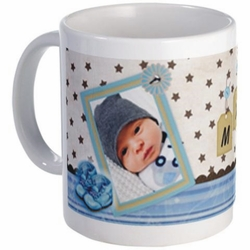 Personalized Baby Boy Name Tag Photo Mug