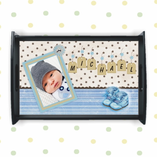 Personalized Baby Boy Nursery Tray
