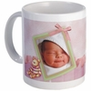 Personalized Baby Girl Name Tag Photo Mug