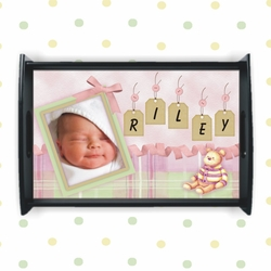 Personalized Baby Girl Nursery Tray