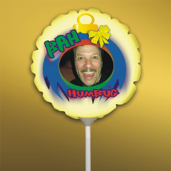 Personalized Bah Humbug Christmas Photo Balloon