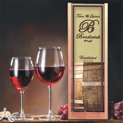Personalized Barrel Wine And Spirits Box