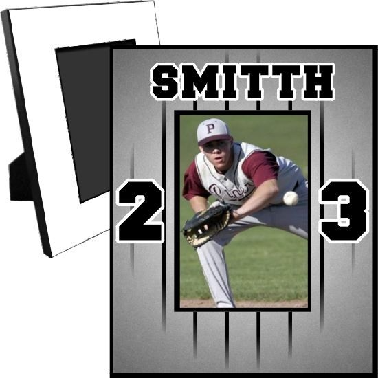 Personalized Baseball Jersey Picture Frame For A 5x7 Picture