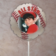Personalized Baseball Photo Balloon