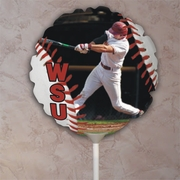 Personalized Baseball Seams Photo Balloon