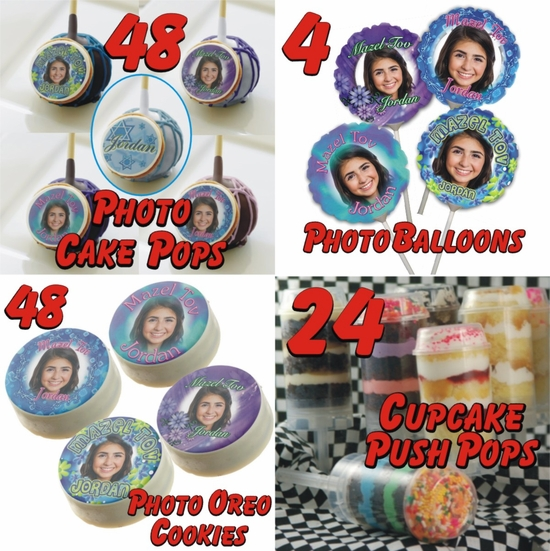 Personalized Bat Mitzvah Cookie And Cake Treats Party Bundle 1