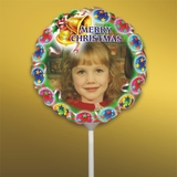 Personalized Bells and Baubles Christmas Photo Balloon