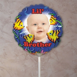 Personalized Big Brother Fish Photo Balloon