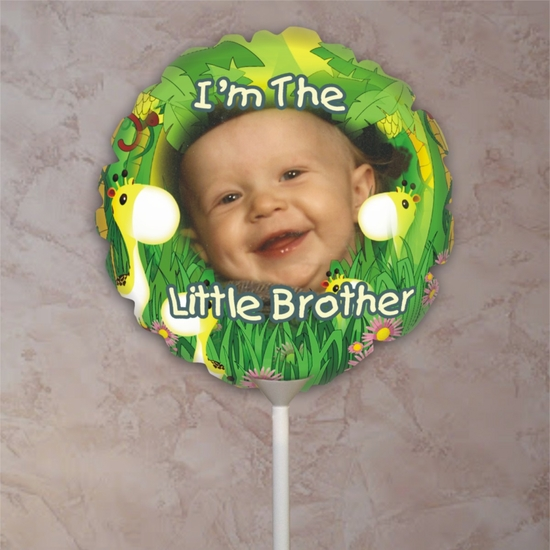 Personalized Big Brother Giraffe Photo Balloon