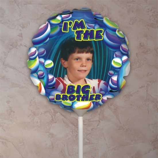 Personalized Big Brother Marbles Photo Balloon