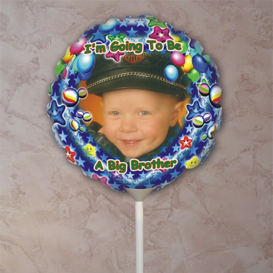 Personalized Big Brother Stars Photo Balloon