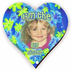 Personalized Big Sister Flower Power Jigsaw Puzzle