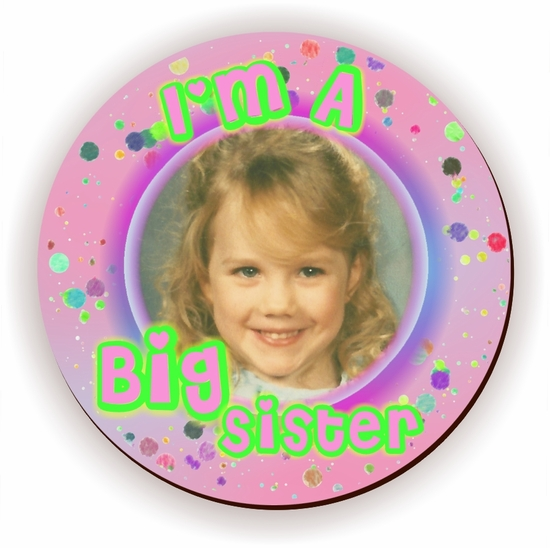 Personalized Big Sister Pink Speckled Jigsaw Puzzle