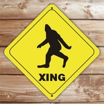 Personalized Bigfoot Crossing Caution Sign