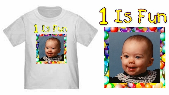 Personalized Birthday Balloons Youth Photo T-Shirt