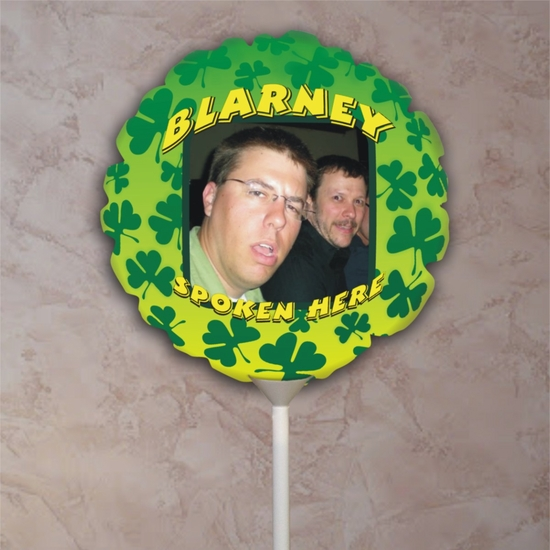 Personalized Blarney Spoken Here St. Patrick's Day Photo Balloon