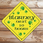 Personalized Blarney St. Patrick's Day Caution Sign