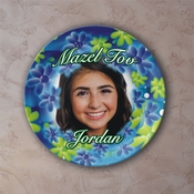 Personalized Blue And Green Petals Porcelain Photo Plate